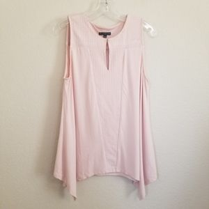 Adrianna Papell Light Pink Tank Top Large